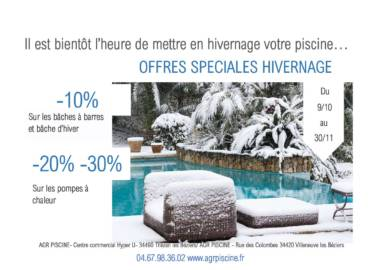 """OFFRE PROMOTIONNELLE """" SPECIAL HIVERNAGE """""""
